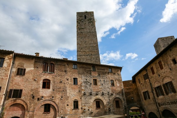 As torres de San Gimignano na Toscana