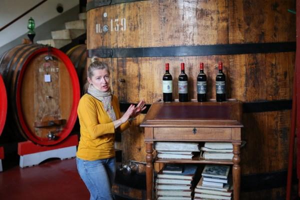 Apresentação na Biondi Santi, umas das Vinícolas da Toscana