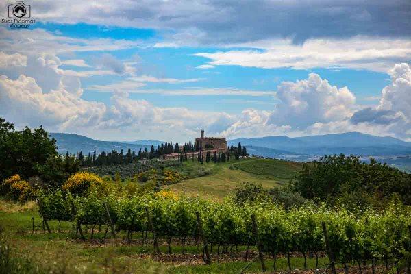 Castelo de Banfi, umas das Vinícolas da Toscana Itália