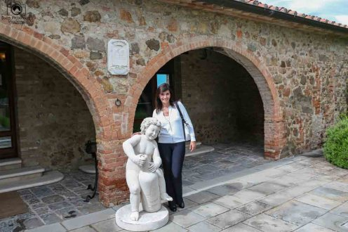 Entrada da Loja do Castelo Banfi nas Vinícolas da Toscana