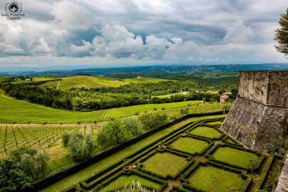 Vinícolas da Toscana Itália - Vista desde o Castelo de Ricassoli