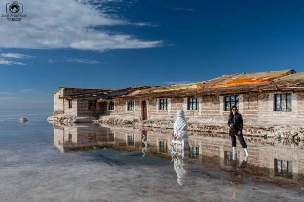 Visão Museu do Hotel de Sal no Salar de Uyuni
