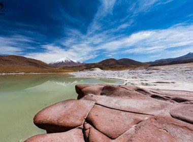 Piedras Rojas com o Vulcão ao fundo