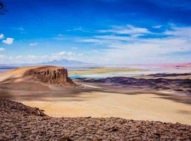 Vista do Salar de Tara no Deserto do Atacama