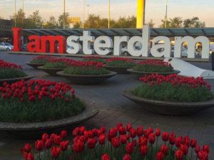 Tradicional Letreiro no Aeroporto em O que fazer em Amsterdam