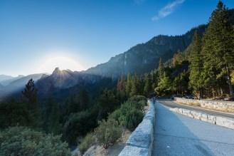 Vista desde o Mirante Tunnel View no Parque Nacional de Yosemite