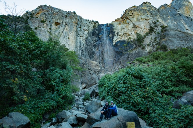Vista da Cachoeira Bridalveil Fall no Parque Nacional Yosemite