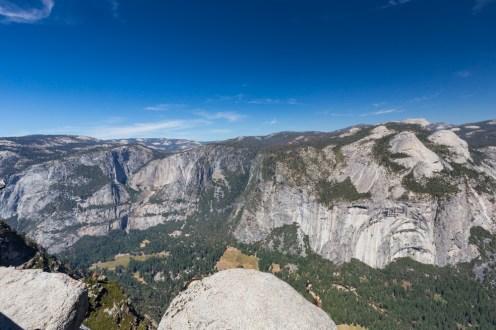 Vista do Glacier Point no Parque Yosemite