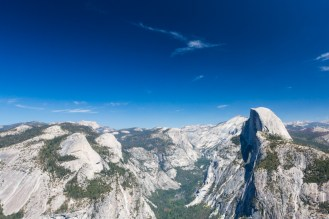 Vista do Glacier e Half Dome no Parque Nacional de Yosemite