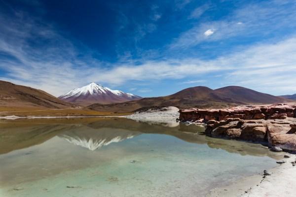 Vulcão Cainchique visto das Piedras Rojas