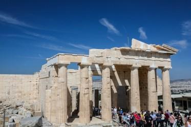 Vista do Parthenon na Grécias