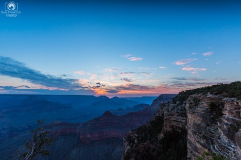 Golden Hour no Yavapai Point no Parque Grand Canyon