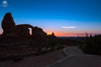 Amanhecer visto do Parque Nacional Arches