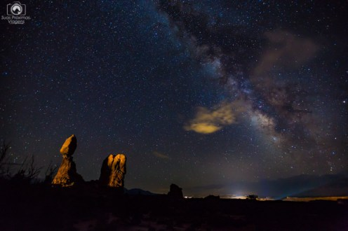 Milk Way seen from Arches National Park