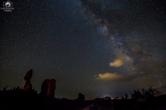 Via Láctea vista do Parque Arches