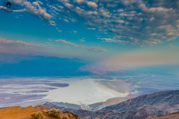 Badwater Basin from Dante's View no Vale da Morte