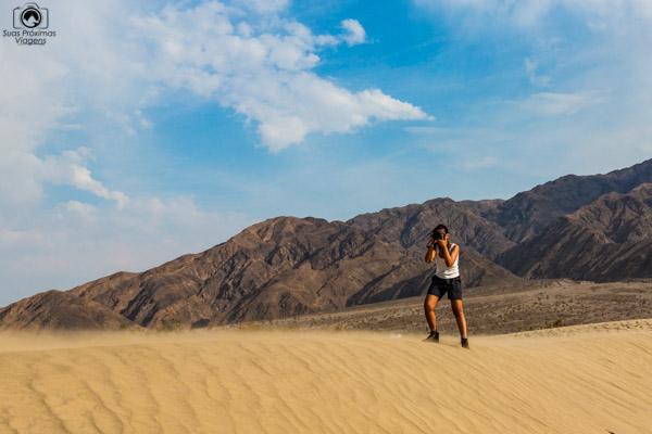 Mesquite Flats no Death Valley USA California