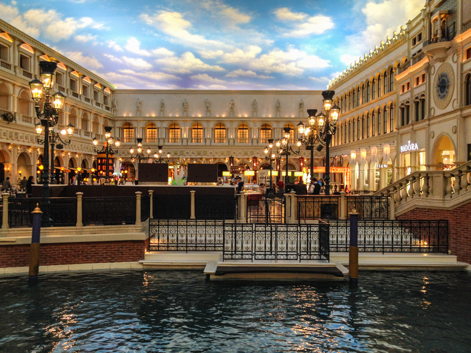 Interior do Hotel Venetian em Las Vegas