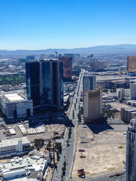 Vista da Strip desde o Stratosphere em Las Vegas