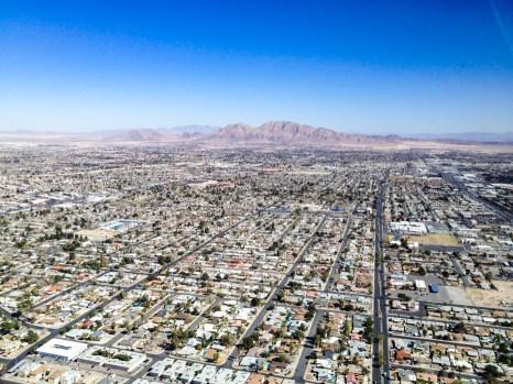 Vista desde a Montanha Russa Stratosphere em Las Vegas
