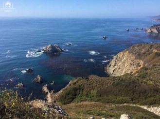 Paisagens pela Costa da Califórnia ou Pacific Coast Highway