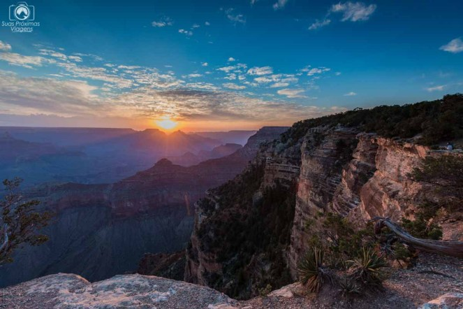 Amanhecer no Grand Canyon