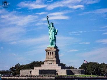 Vista da Liberty Island em Nova York