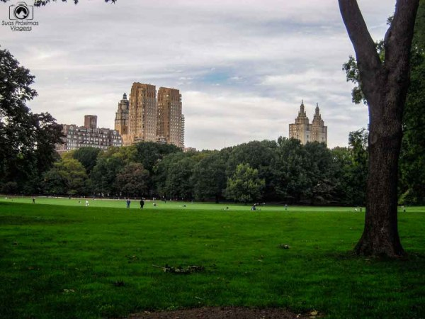 Sheep Meadow Praça no Central Park em Nova York
