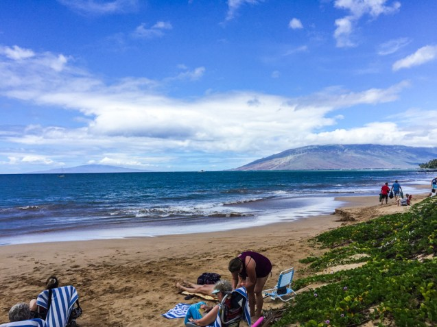 Vista da Praia de Kihei em Maui