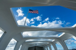 Vista interna do Memorial ao USS Arizona no Havaí