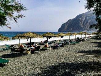 Praia de Kamari - O que fazer em Santorini