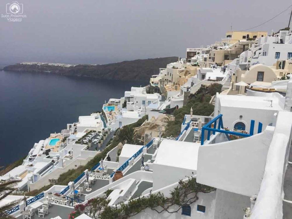 Vista de Imerovigli em Santorini