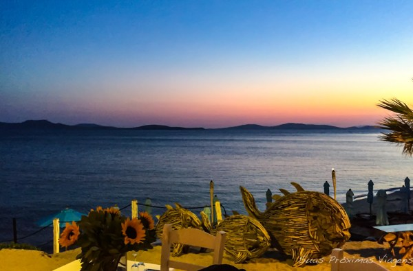 Vista do Hippie Fish em Mykonos