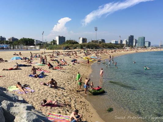 Mar Bella em Barcelona