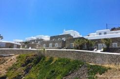 Fachada do Hotel Pietra e Mare em Onde ficar em Mykonos