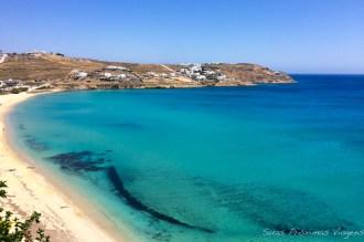 Vista da Praia Kalo Livadi em O que fazer em Mykonos