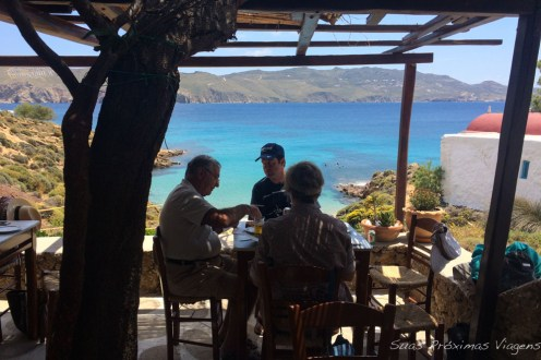 Vista desde o Kiki's Tavern em Mykonos