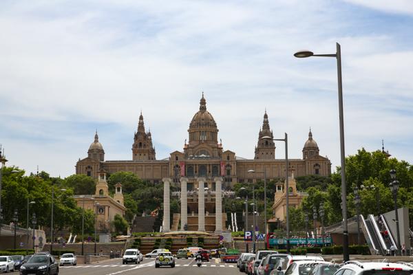 Vista do Parc de Montjuic em Barcelona