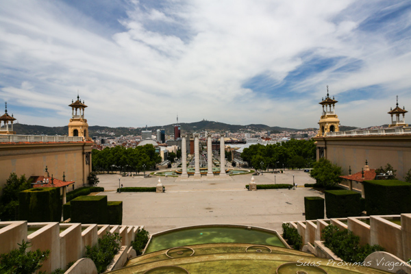 Vista desde o Parc de Montjuic em Barcelona
