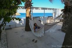 Área de descanso no Pietra e Mare em Mykonos