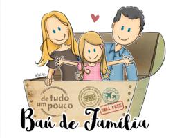 """link para o site """"bau de família"""" em blogs parceiros"""