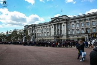 Palácio de Buckingham em perspectiva em O que fazer em Londres