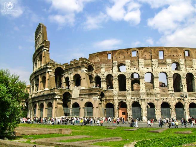 O coliseu em o que fazer em Roma