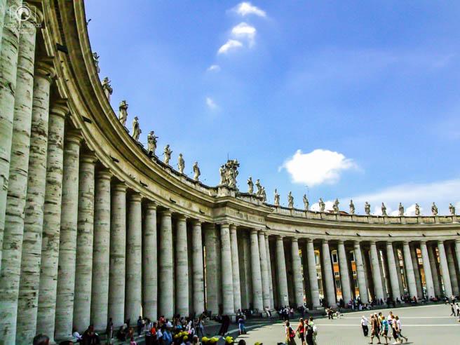 Arredores da Basílica de São Pedro em Roma Itália