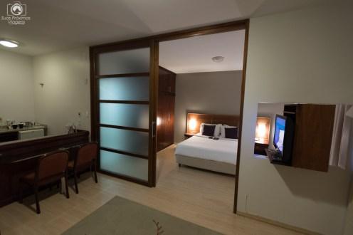Visão dos cômodos do Mercure em Joinville
