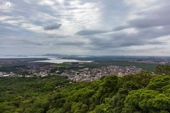 Vista da Mata Atlântica cercando a cidade de Joinville