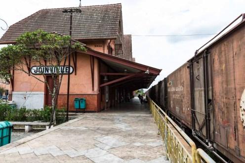 Chegada à Estação em Joinville
