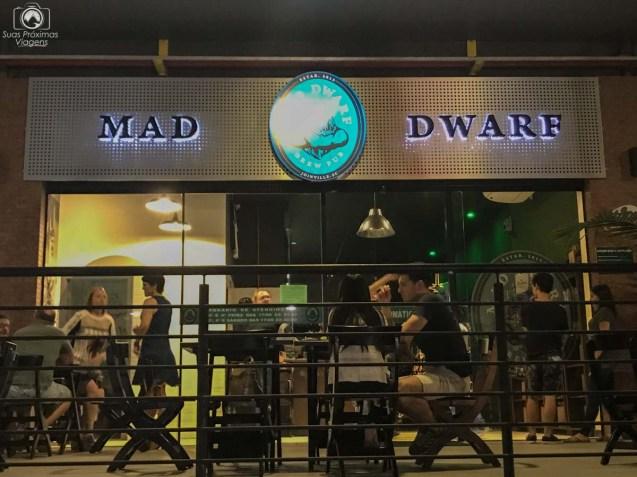 Fachada do Mad Dwarf em Joinville
