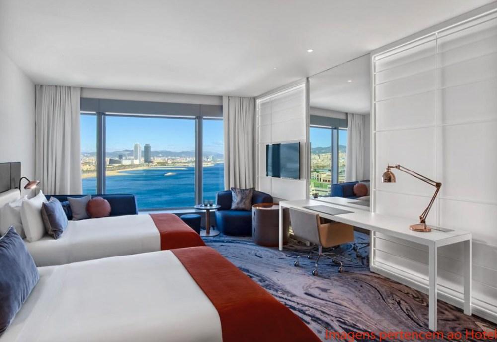 Quarto Sky Fabuloso do Hotel W em onde ficar em Barcelona