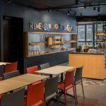 Área do Café da Manhã do Kyriad em onde se hospedar em Paris